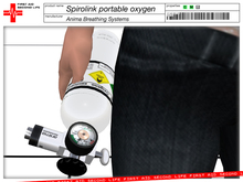 SPIROLINK Portable Oxygen Tank with 2 masks