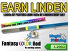Magic Fishing Fantasy Color Rod -  Earn Linden by Fishing