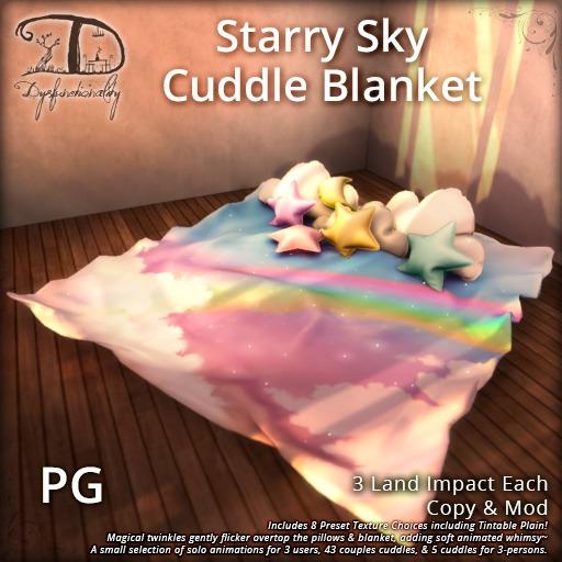 [DDD] Starry Sky Cuddle Blanket [PG] - Twinkly Texture Change Rug !