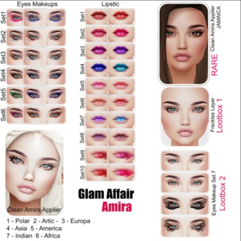 Glam Affair - Amira Lipstick  for Catwa Heads - SET 7