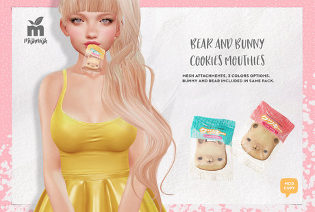 MishMish - Bear & Bunny Cookies Mouthie / Pink [Boxed]