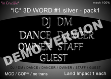 DEMO[*iC* 3D Words #1 silver - pack1]DEMO