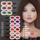 Glam Affair - Mira Lipstick  for Catwa Heads - SET 6