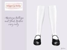 Babygirl&Daddytoo!-Maryjanes-Plain White