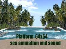 Skybox - Beach animated sea