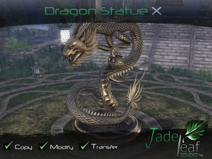 Dragon Statue X - Full Permissions