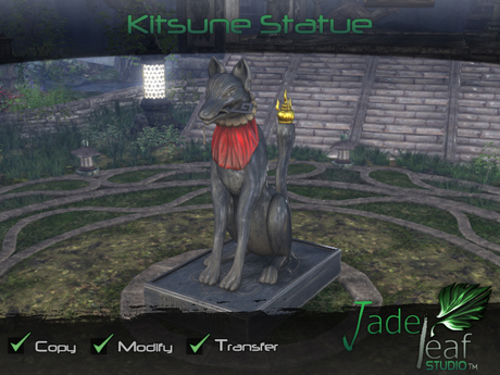 Kitsune Statue - Full Permissions