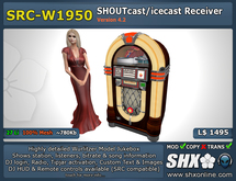 SHX - SHOUTcast board & ICEcast Club Receiver SRC-W1950 Wurlitzer Jukebox
