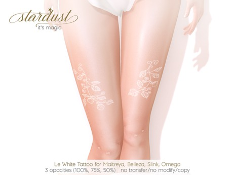 Stardust - Le - White Tattoo (WEAR ME)
