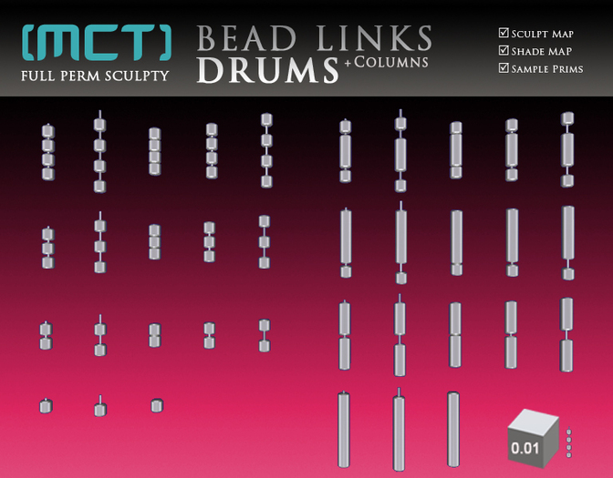 [MCT] Bead Links - Drums (Full Perm)