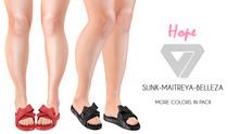 ILLI - [SLink,Maitreya,Belleza] Hope Bow Sandals (HUD Driven) - FLASH SALE