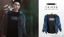 taikou / street denim jacket (BLUE)