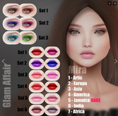Glam Affair - Mira Lipstick  for Catwa Heads - SET 2