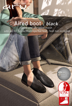 aru. Aired boot *Black*