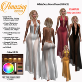 AmAzINg CrEaTiOnS White Sexy Gown Dress (GRACE)