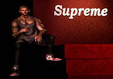 ISlay supreme background + 1 bento pose men