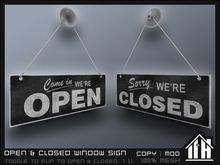 11th House - Open & Closed Window Sign