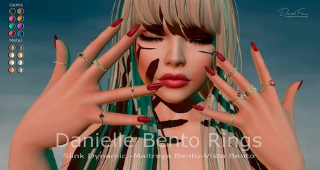 .:DarkFire-Danielle Bento Rings