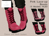 RUSH Pink Lace-Up Boots (3 Models HUD)