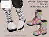RUSH White Lace-Up BOOTS (3 Models HUD)