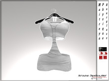 bag dress BOW WHITE LACE *Arcane Spellcaster* Ak-Creations