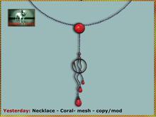 Bliensen + MaiTai - Yesterday - Necklace - Coral