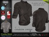 Corito Brown Male Mens Shirt Top - Mesh - TMP, Adam, Slink, Signature, AESTHETIC , Belleza Jake - FashionNatic