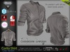 Corito Grey Male Mens Shirt Top - Mesh - TMP, Adam, Slink, Signature, AESTHETIC , Belleza Jake - FashionNatic