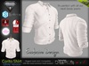 Corito White Male Mens Shirt Top - Mesh - TMP, Adam, Slink, Signature, AESTHETIC , Belleza Jake - FashionNatic