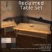 [DDD] Reclaimed Table Set - Tex. Change Coffee & Side Table Pair