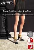 aru. Alex heels *check yellow*