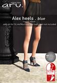 aru. Alex heels *blue*