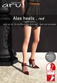 aru. Alex heels *red*
