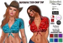 ~ Bandana Tied Crop Top ~