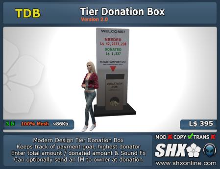 SHX-TDB-Tier Donation Box