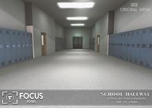 [ Focus Poses ] School Hallway Backdrop