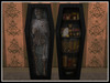RE Stand Up Coffin Set - Bookcase & Skeleton Spooky Decor