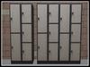 RE Modern Gray Lockers Set - School & Gym Decor
