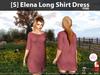 s  elena long shirt dress pink pic