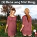 s  elena long shirt dress pink ad