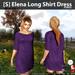 s  elena long shirt dress purple ad