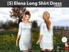 [S] Elena Long Shirt Dress Stripes