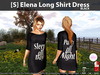 [S] Elena Long Shirt Dress Black