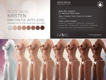 [GA.EG] Kirsten Body Skins - Full Pack - Maitreya Appliers