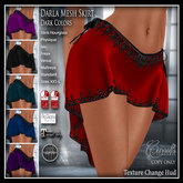 CB~Darla Mesh Skirt (box) Darks