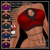 CB~Darla Mesh Top (box) Darks