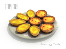 Chinese & Portuguese Egg Tarts Animated (Original, 1 Prim, 100% Mesh)