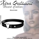 *XO*  Open Collar Heart