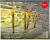 Flaming torches