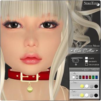 NekoToys - Cat Collar / non-rigged Mesh